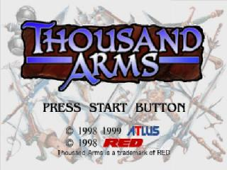 Screenshot Thumbnail / Media File 1 for Thousand Arms [2Discs] [U]